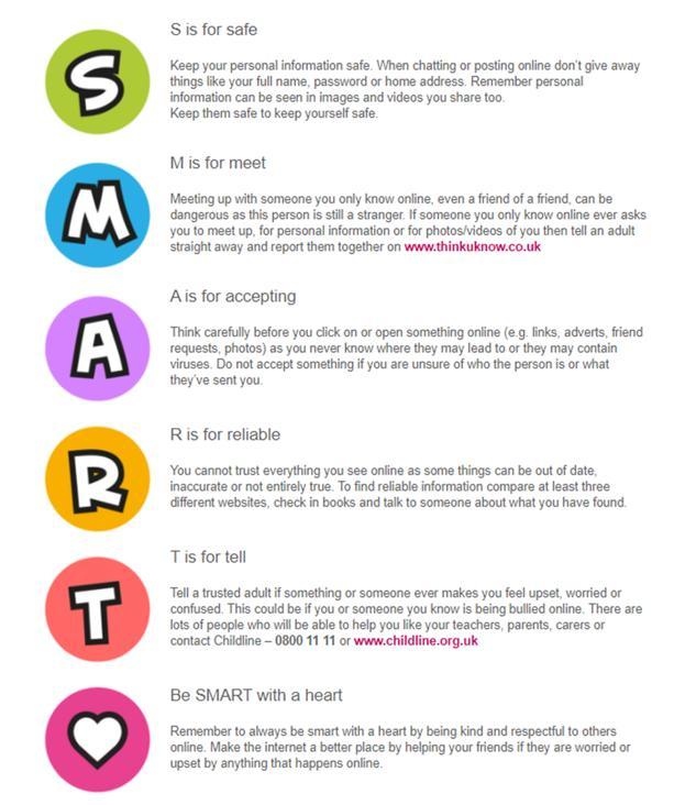 Online Safety Graphic